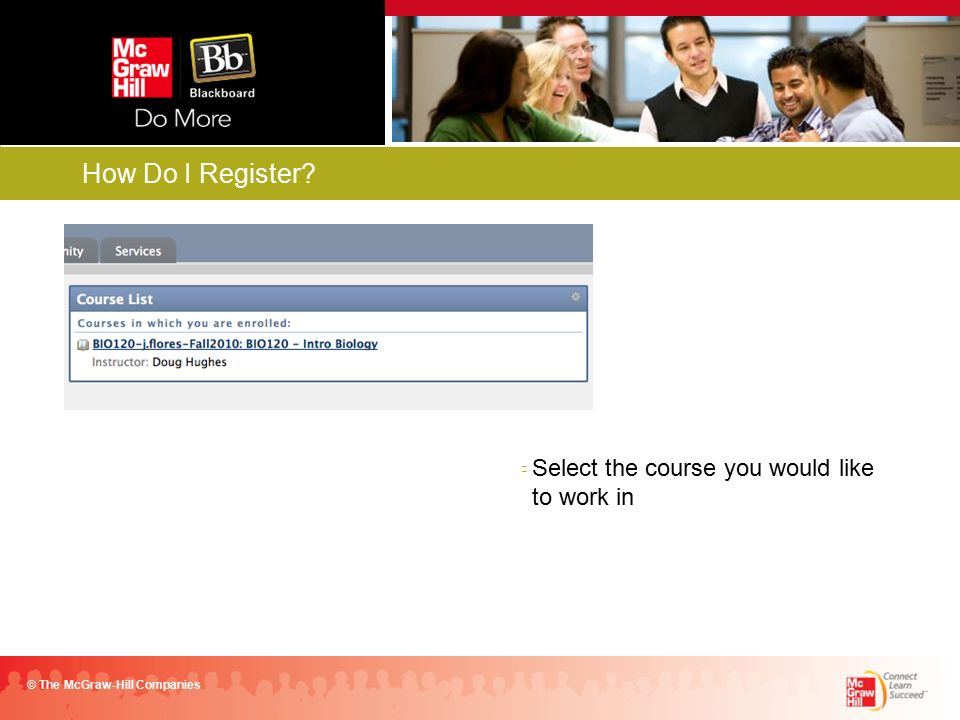 Login into your campus Blackboard account using your