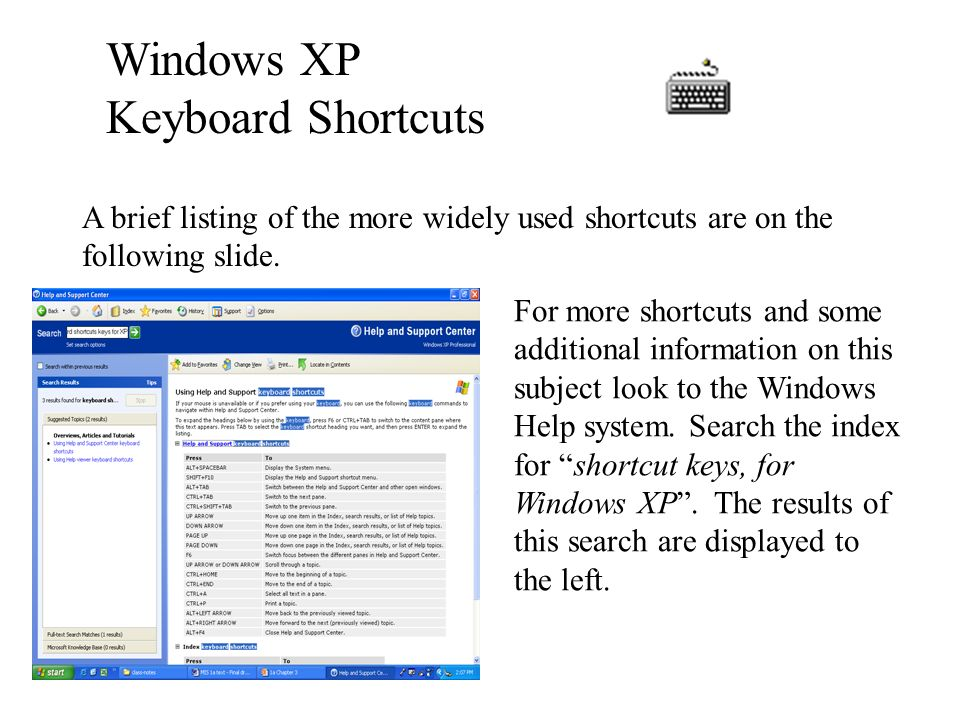 Elementary Windows XP This chapter-3 will cover: The Basic