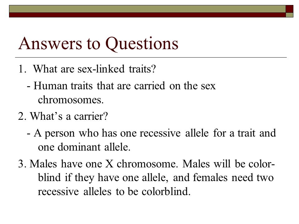 which chromosomes are sex linked traits found on
