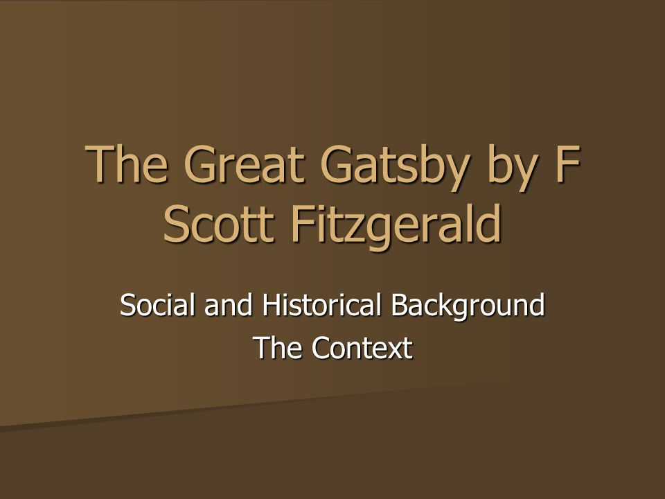 the effects of materialism in the great gatsby by f scott fitzgerald Like nick in the great gatsby, fitzgerald found this new lifestyle seductive and exciting, and, like gatsby, he had always idolized the very rich now he found himself in an era in which unrestrained materialism set the tone of society, particularly in the large cities of the east.