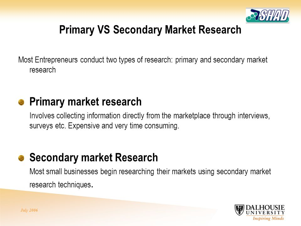 subway primary and secondary research Secondary research data, on the other hand, was collected by a third party or for some other purpose primary data can be collected by someone in the organization this person has to have a clear plan for conducting research, including specific research questions and methodology.