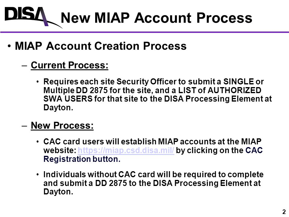 Account Creation Process Change Starting 07 24 Ppt Download