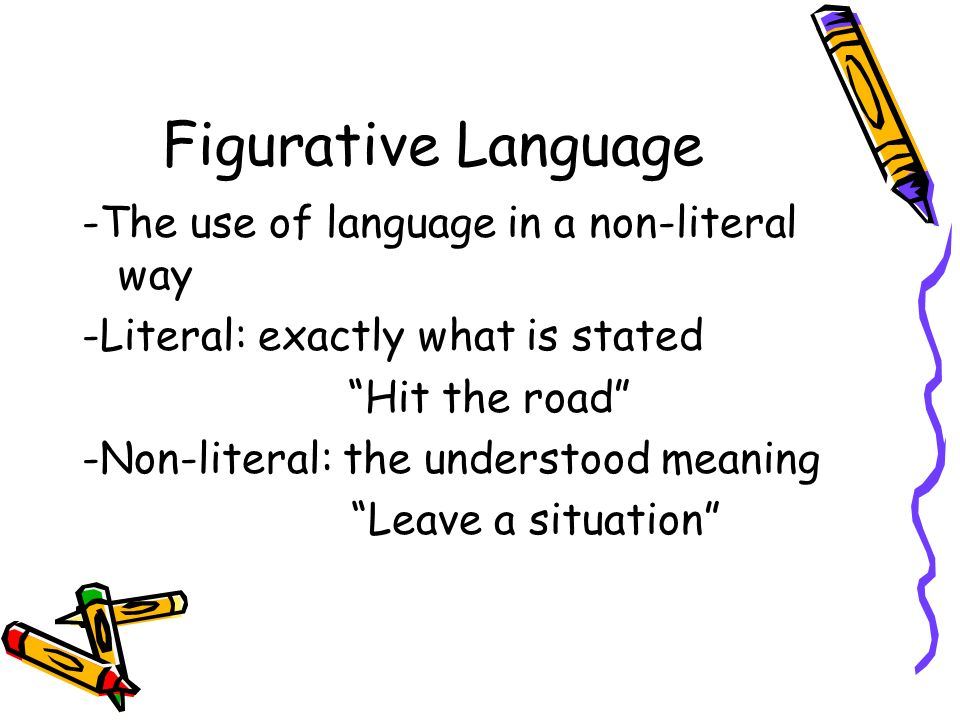 figurative language in the road