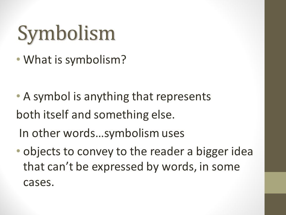 Warm Up What Is Symbolism Who Uses Symbols And Why Are Symbols
