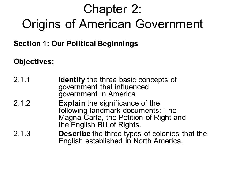 Unit 2 Chapter 2 Origins Of American Government Chapter 3