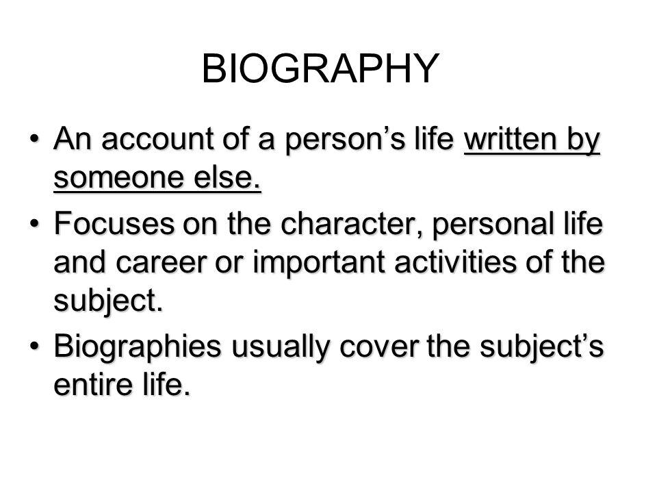 career autobiography