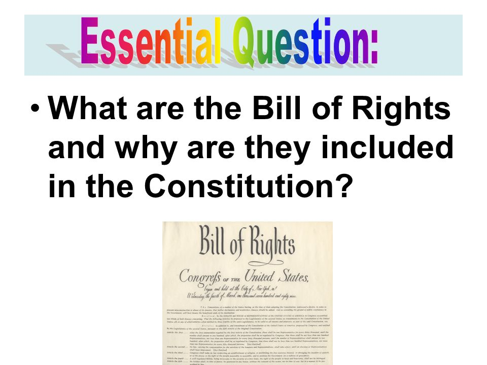 What are the Bill of Rights and why are they included in the Constitution