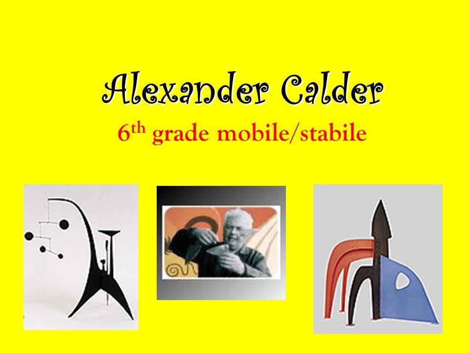 alexander calder born