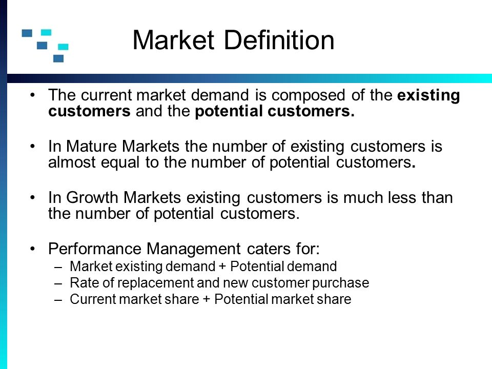 Mature market definition