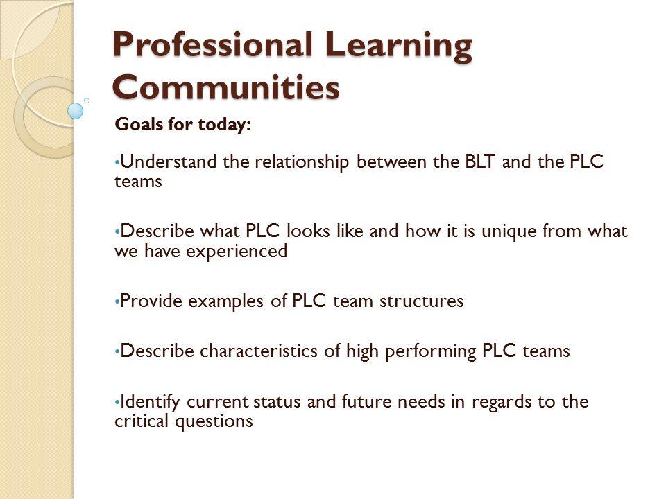 District Leadership Team District SMART Goals Building