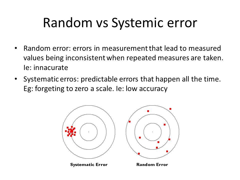 Ebcp Random Vs Systemic Error Random Error Errors In Measurement