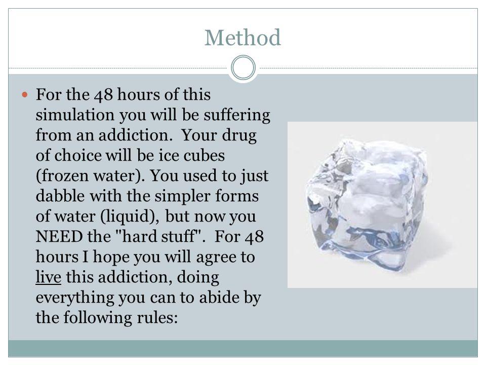 ice cube addiction