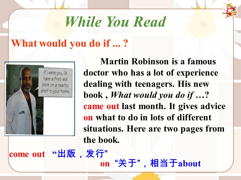 Martin Robinson is a famous doctor who has a lot of experience dealing with teenagers.