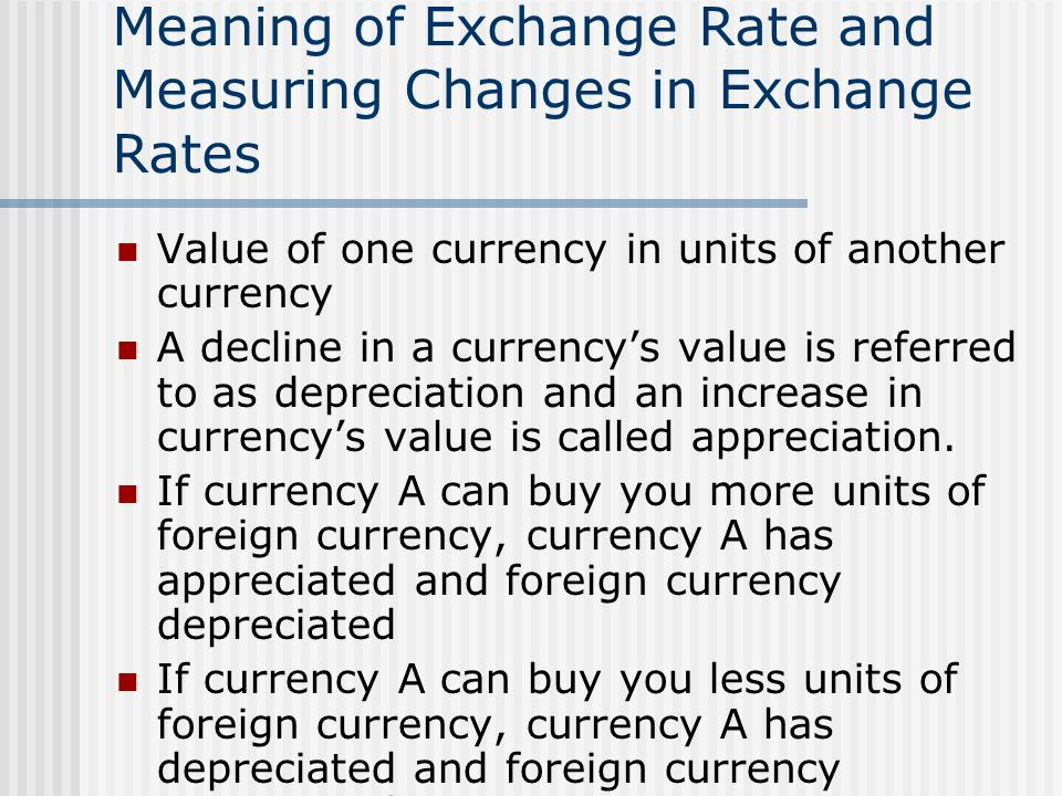 Exchange Rate Determination Meaning Of And