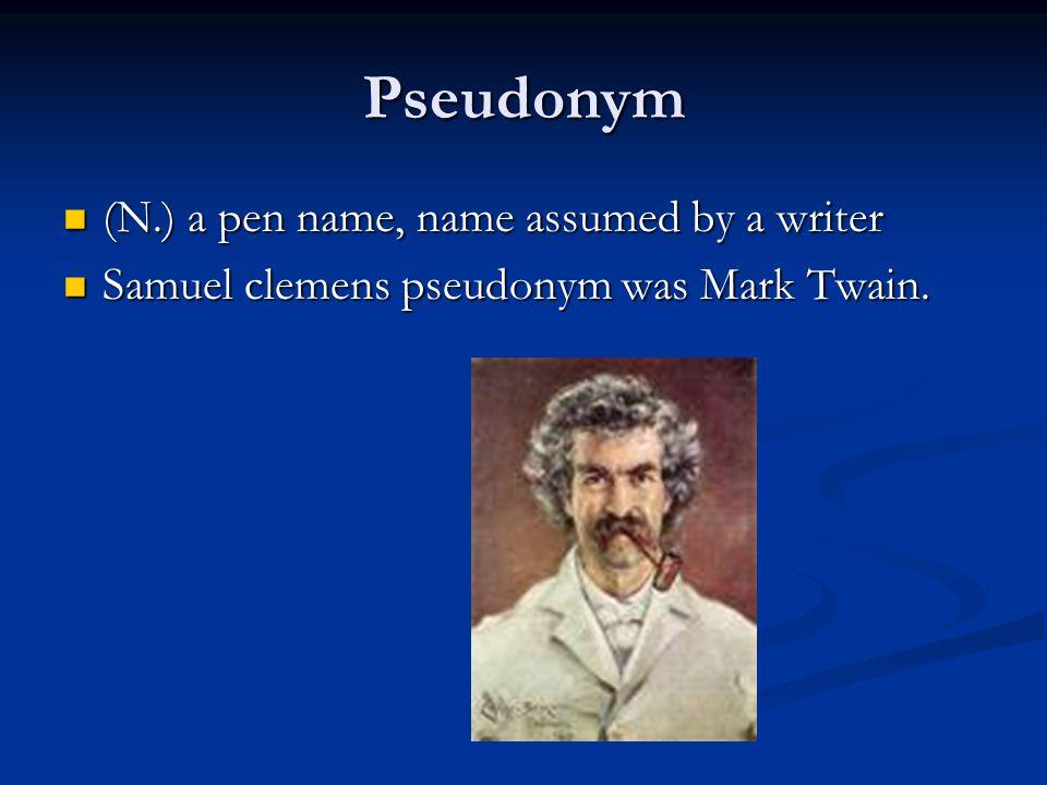 samuel clemens pseudonym