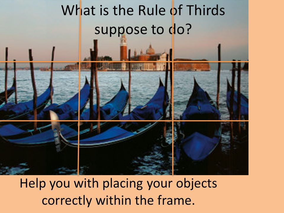 What is the Rule of Thirds suppose to do.