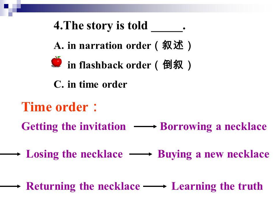 the necklace main idea