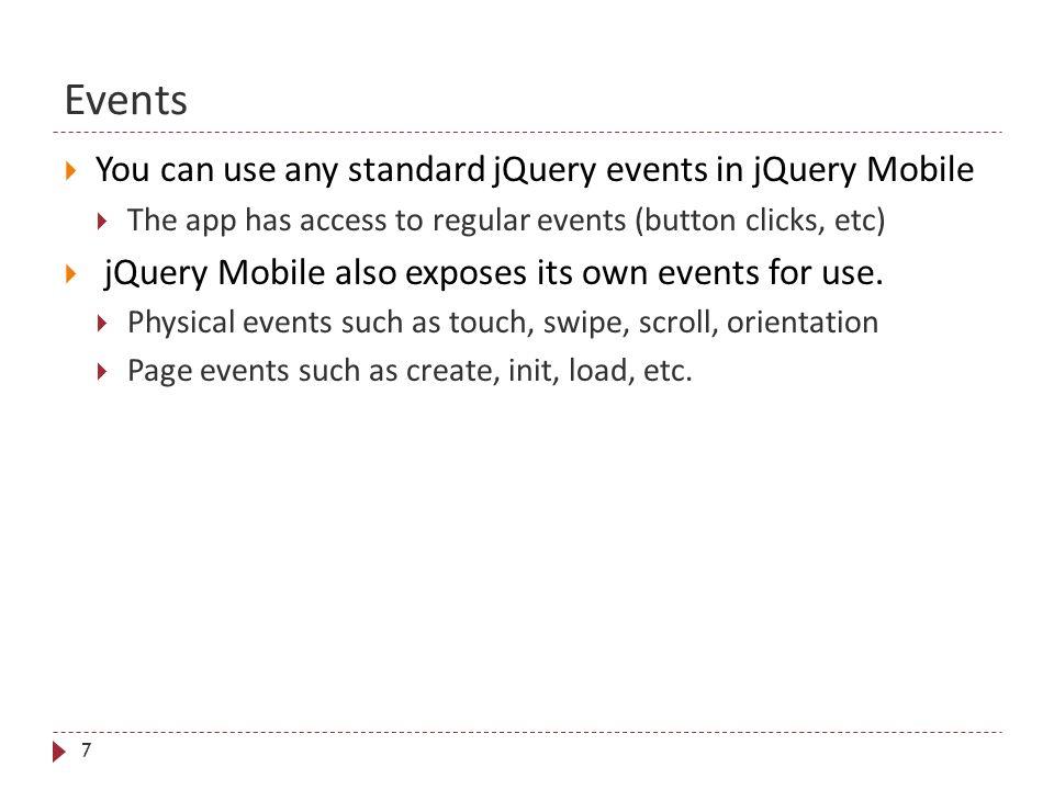 User Interface Design using jQuery Mobile CIS 136 Building