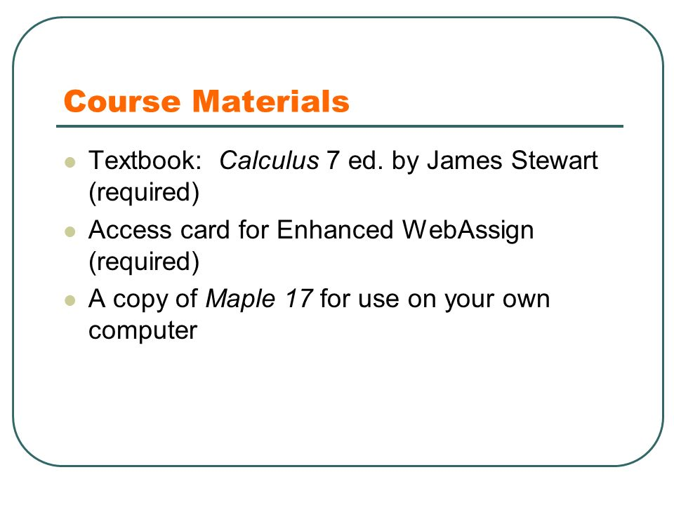 Mat 1236 calculus iii spring ppt download course materials textbook calculus 7 ed fandeluxe Image collections
