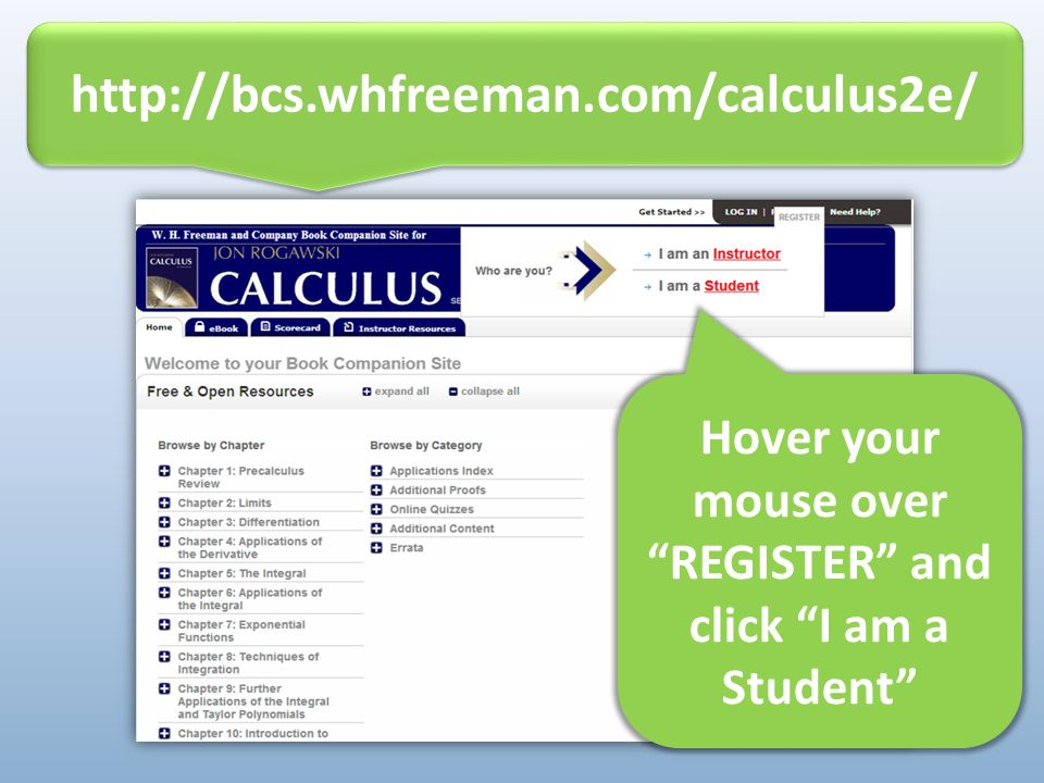 READY TO GET STARTED online study tools for: Calculus 2 nd