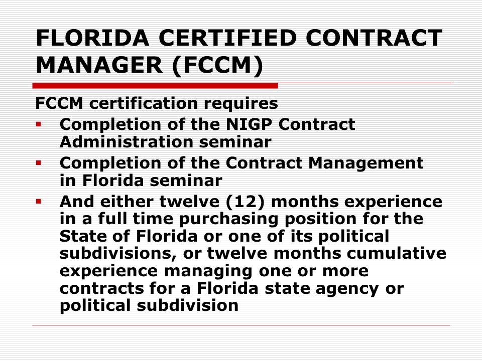 florida's purchasing training and certification program florida ...