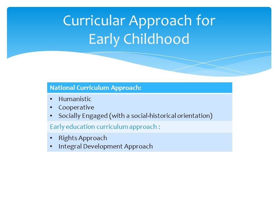 Preschool and Early Childhood Curricula Foundations  - ppt