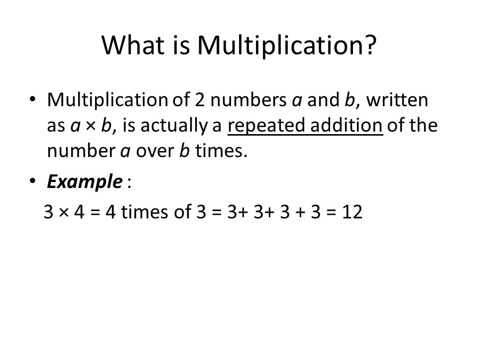 What is Multiplication.