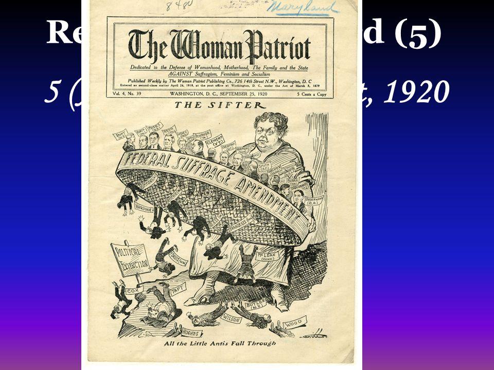 4 Readiness Standard 5  19 Th Amendment 1920