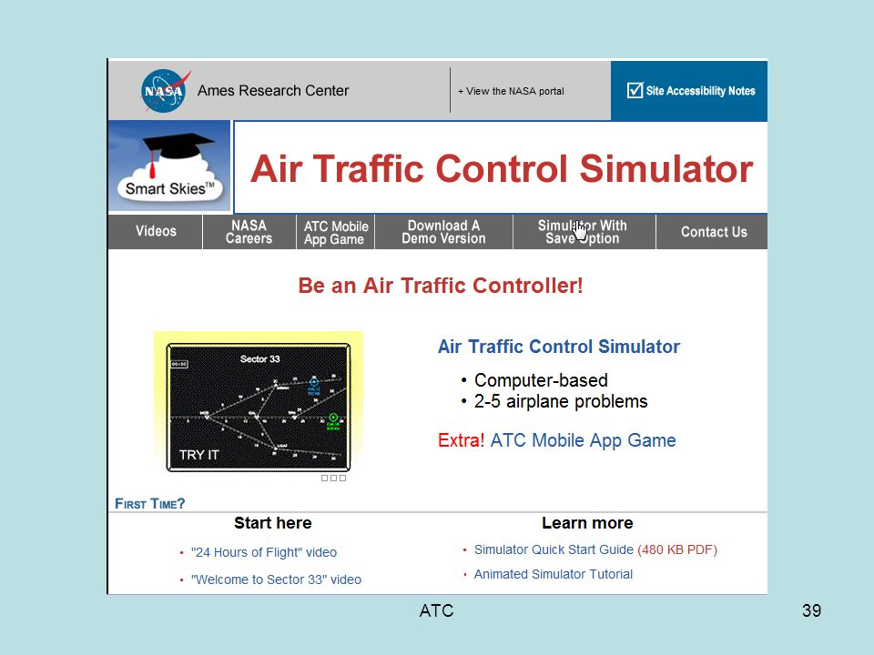 ATC1 Air Traffic Control ATC2 Purpose of ATC Safety