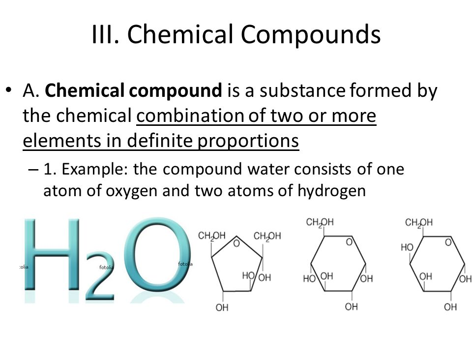 III. Chemical Compounds A.