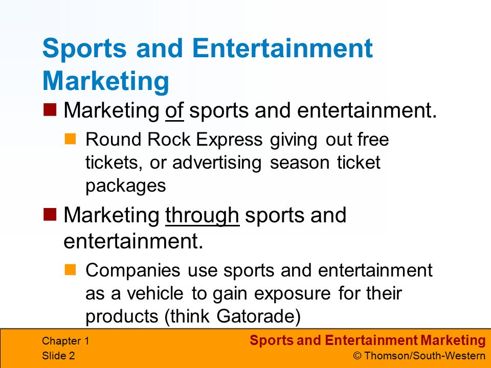 Sports And Entertainment Marketing C Thomson South Western Chapter 1 Slide 1 What Is Marketing Marketing Long Definition Planning And Executing The Ppt Download