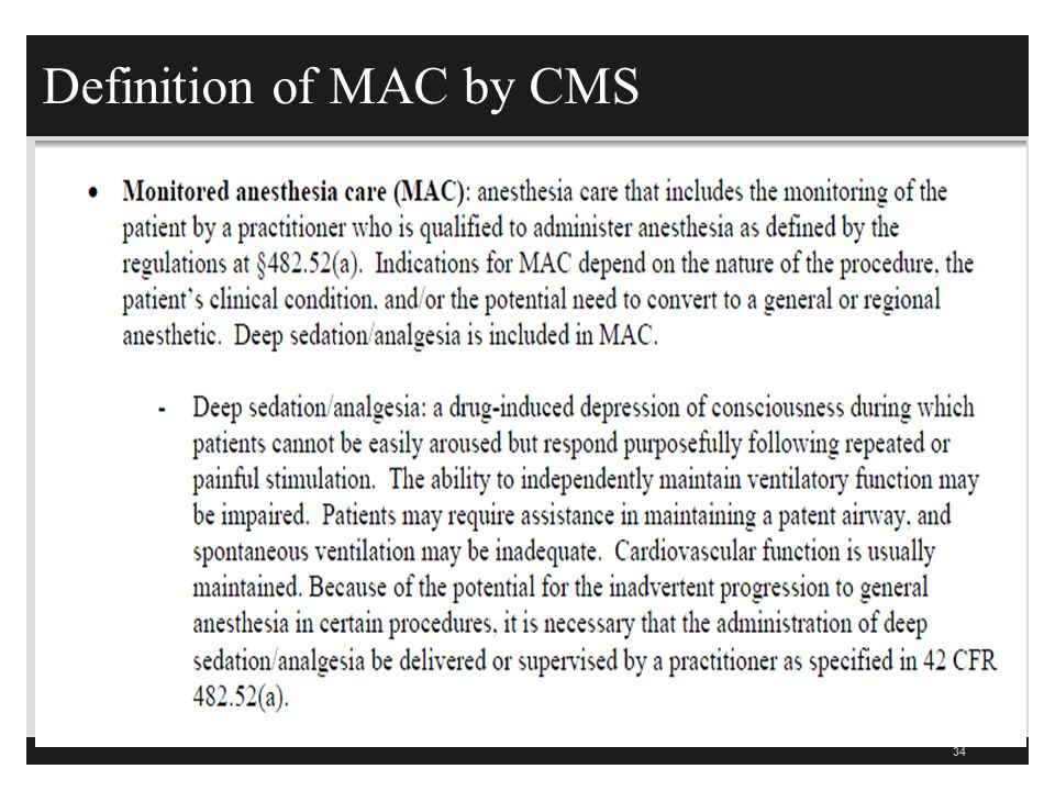 CMS Hospital CoP Anesthesia Guidelines th Revision February