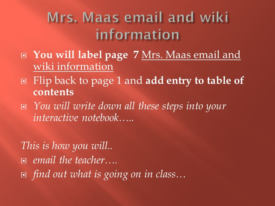  You will label page 7 Mrs.
