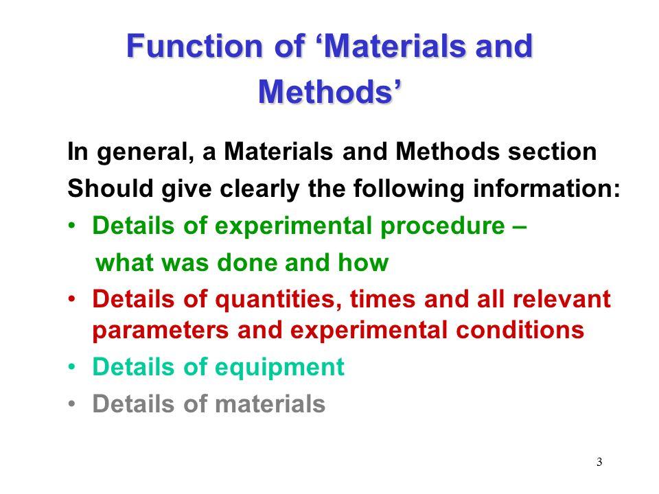 procedure in research paper