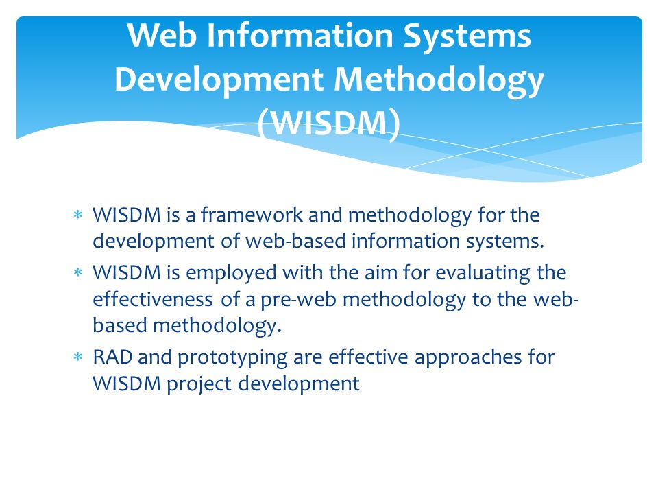 information system development methodologies