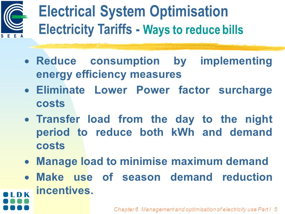 Management and Organisation of Electricity Use Electrical