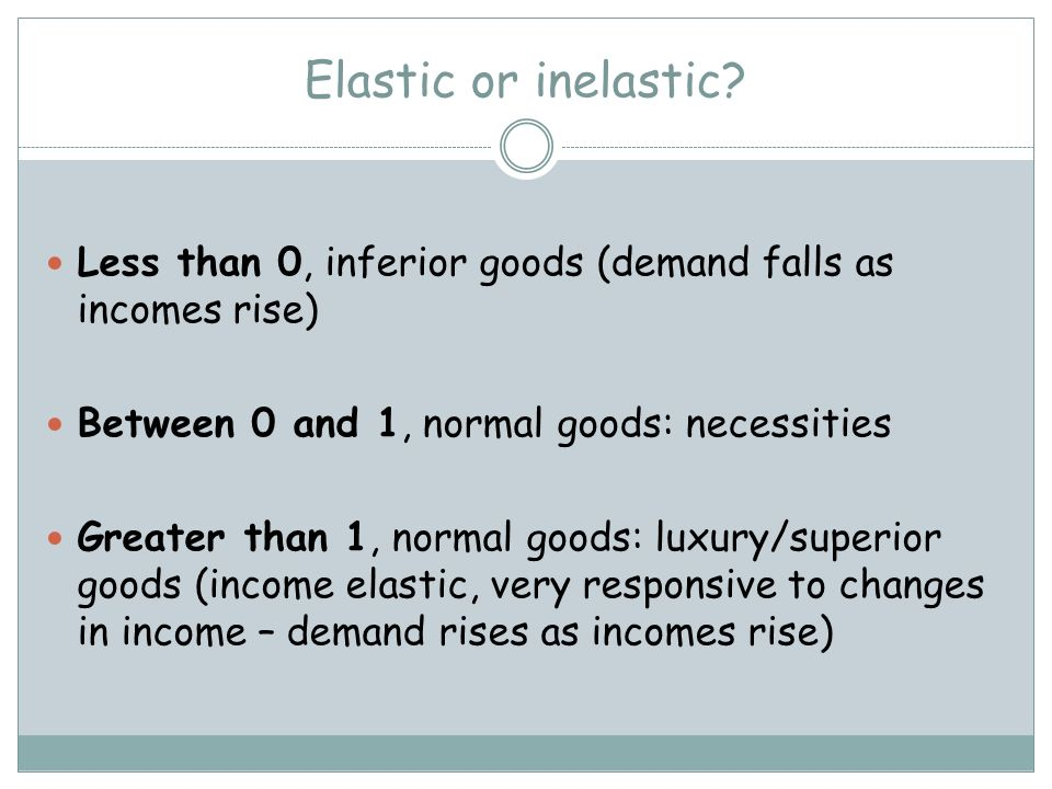 Elasticity Price Elasticity Of Demand Measures The Responsiveness To A Change In Price That Is Will The Quantity Demanded Change If The Price Of The Ppt Download