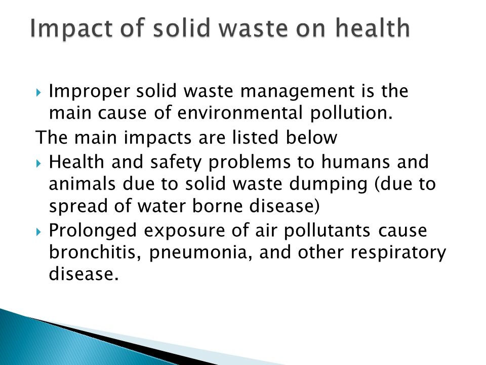 causes of solid waste pollution