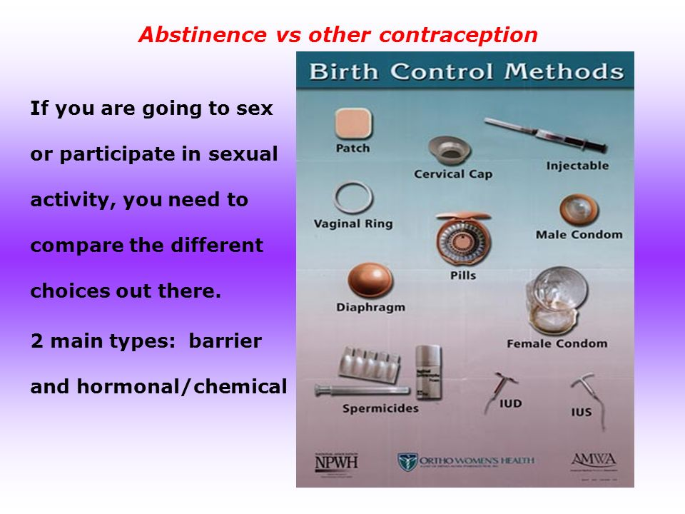 9 Abstinence vs ...