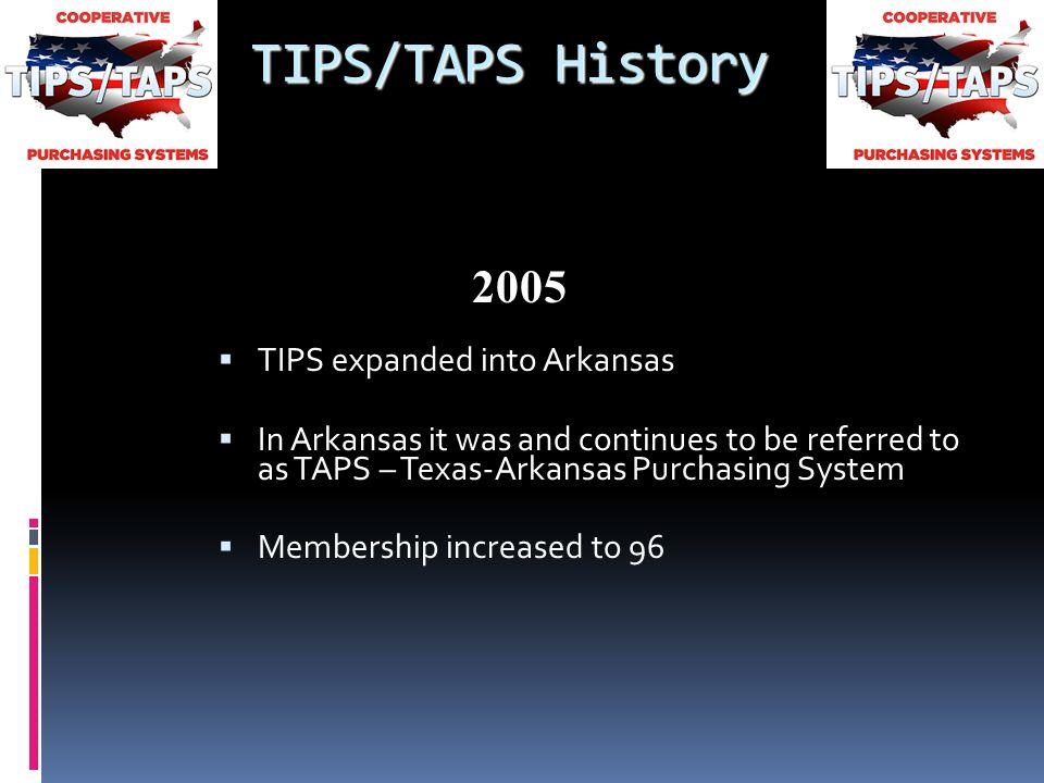 Texas Arkansas Purchasing System Tipstaps History Original Name