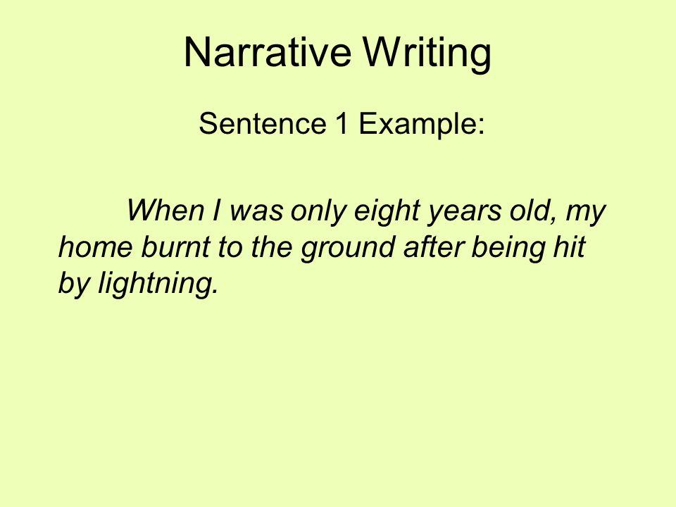 Writing narratives.