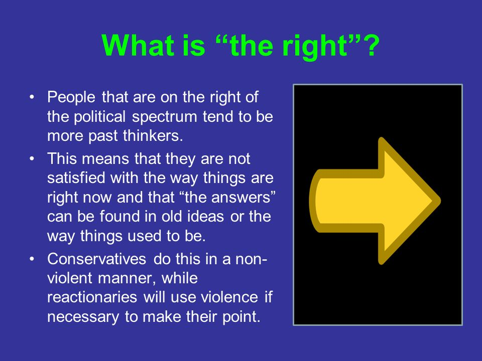 What is the right .
