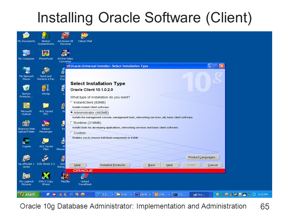 oracle 10g client download