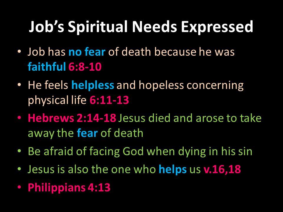 3 jobs spiritual