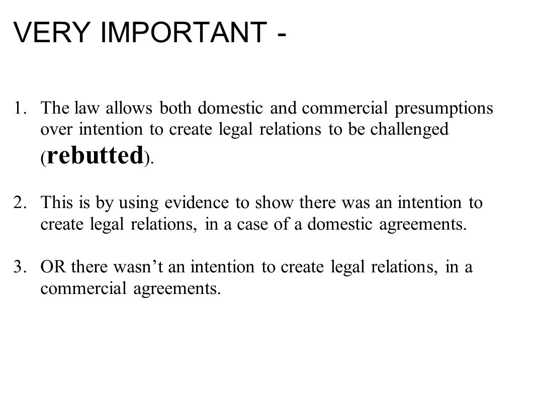 Intention To Create Legal Relations Definition The Parties To A - Legally binding document