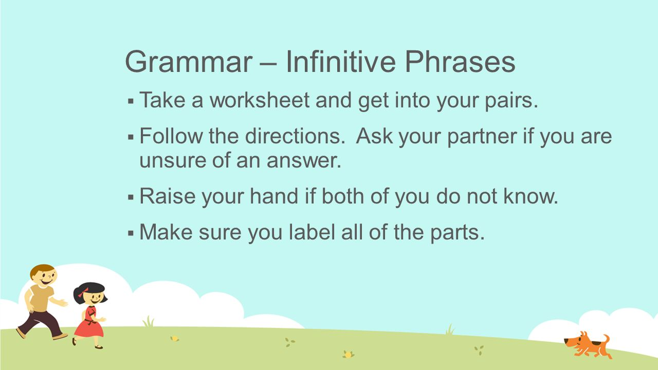 Day 39 Infinitives And Rough Draft 2 Instructor Kyle Britt Ppt
