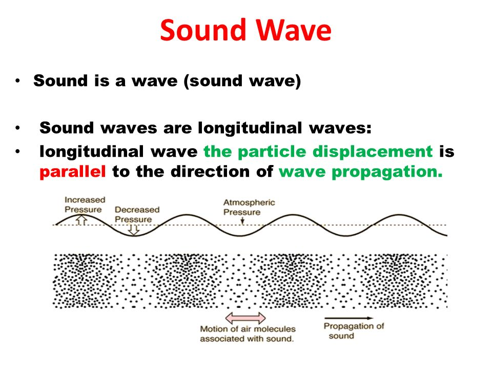 2 Sound Is A Wave Waves Are Longitudinal The Particle Displacement Parallel To Direction Of