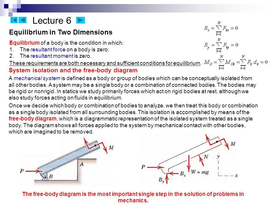 theoretical mechanics statics kinematics navigation right down rh slideplayer com Solving Free-Body Diagrams Free Body Diagram Examples