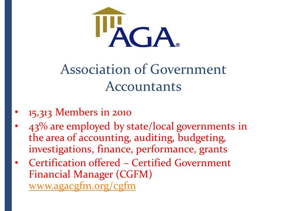 Association of Government Accountants Community Indicators ...