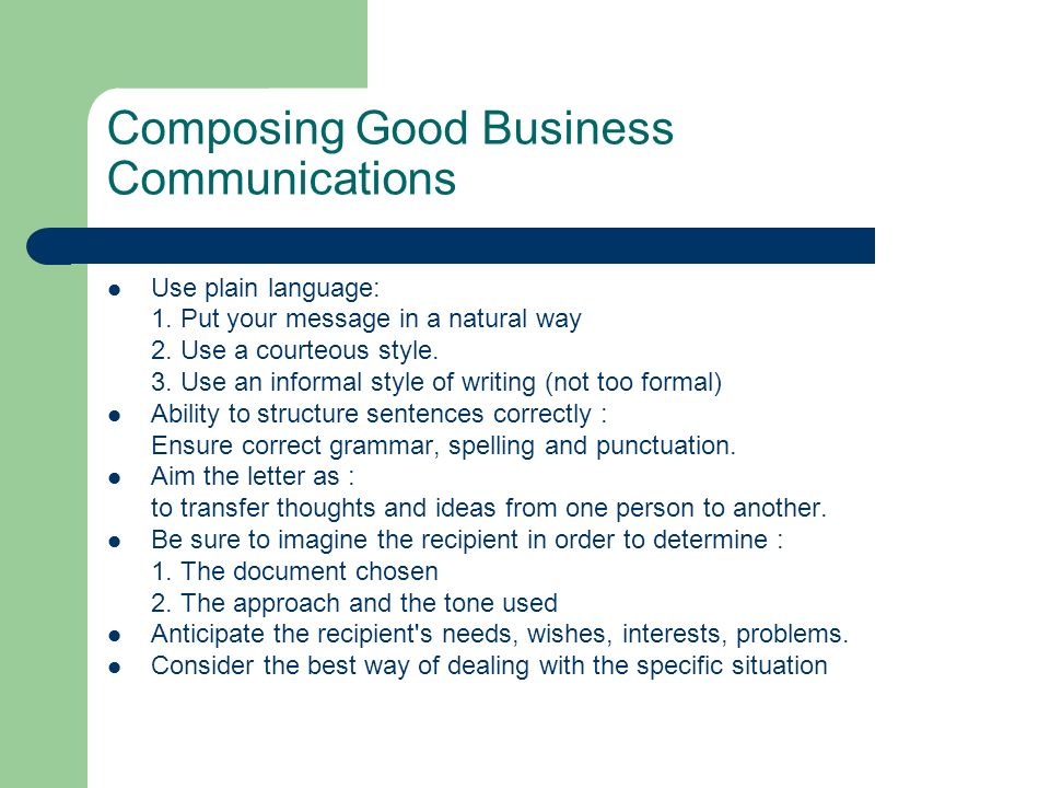 Which Is An Example Of An Effective Business Letter Tone from images.slideplayer.com